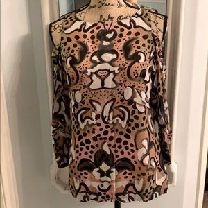 French Connection Abstract Animal Print Top